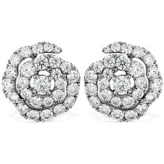 Lorelei Diamond Floral Earrings ($9,900) ❤ liked on Polyvore featuring jewelry, earrings, diamond jewellery, floral jewelry, heart earrings, heart shaped diamond earrings and diamond jewelry