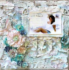 Mixed Media layout by Juliana Montoya for Prima
