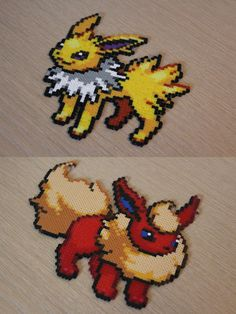 Eevee evolutions. I wonder if I could make this. (Hope I have enough beads if I do try to make this.)