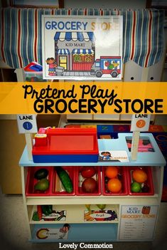 Pretend Play Dramatic Play Printables.  Make creating a grocery store in your preschool classroom easy!