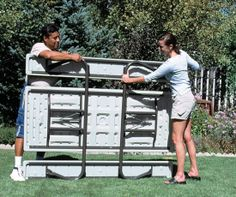 22119 Lifetime Picnic Table 6 ft. Putty Top 2119 Model Folding Frame