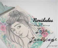 My Own Landscape Dreams: Novidades na Loja Landscape - Ilustração bordada com prancheta Rosto em flores.