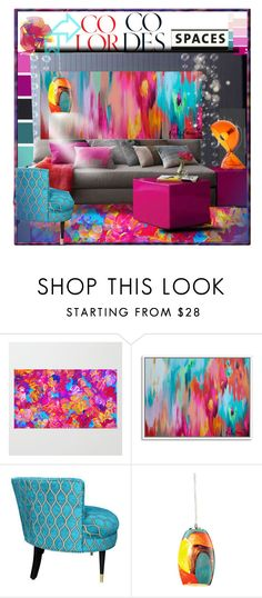 """""""Happy house!"""" by latinaconestilo ❤ liked on Polyvore featuring interior, interiors, interior design, home, home decor, interior decorating, Seed Design, Dot & Bo, Artemide and modern"""