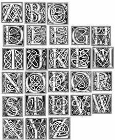 Картинки по запросу celtic knot letters alphabet