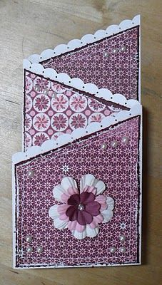 TriFold Lovely  Lacy  Tri Fold Folded Cards And Card Stock