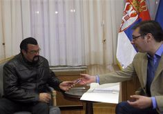 Steven Seagal granted Serbian citizenship, after becoming friendly with the government in Belgrade. Description from radio.foxnews.com. I searched for this on bing.com/images