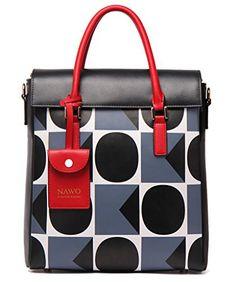 NAWO Women's Genuine Leather Handbag Tote Top-handle Shoulder Bag Gray - http://leather-handbags-shop.com/nawo-womens-genuine-leather-handbag-tote-top-handle-shoulder-bag-gray/