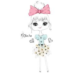 Girls Tees, Cute Art, Notebooks, Illustration, Anime, Heat Press, Light Colors, Kid Drawings, Comics