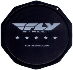 This is a sample of a Custom Imprinted Motorcycle Coaster®. This is one we printed for FLY Racing.  Check them out at FlyRacing.com. The Motorcycle Coaster® is sometimes referred to as a kickstand pad, kickstand plate, side stand pad, side stand plate, or puck.   It is specifically designed as a motorcycle kickstand support aide for soft surfaces and is designed for your custom printed message.