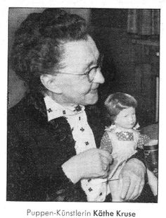 Doll and toy maker Käthe Kruse, photographed with one of her company's dolls for the 15 December issue of news magazine Der Spiegel, West Germany, 1965, photographer unknown.