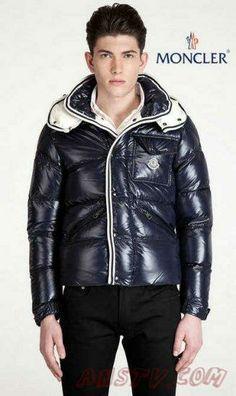 Moncler Hommes Branson In DarkBleu Cool Jackets, Down Coat, Moncler, Warm  Coat, 459b408b198