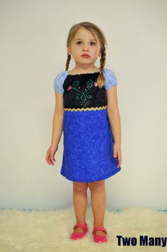 Two many: Frozen Inspired Anna Dress