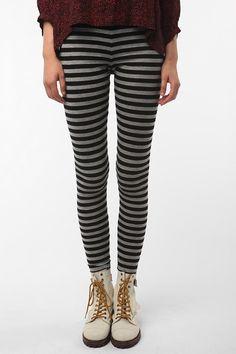 Striped leggings.  longer shirt needed