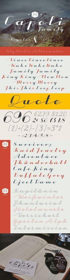CA Capoli Family. Fonts. $39.00