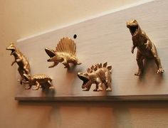 Dinosaur Coat Hooks: 6 Steps (with Pictures) Diy Coat Hooks, Diy Coat Rack, Diy Hooks, Dinosaur Room Decor, Dinosaur Crafts, Dinosaur Kids Room, Dinosaur Dinosaur, Decorative Wall Hooks, Deco Design