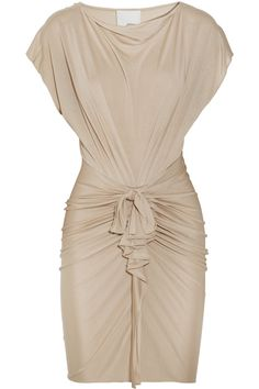 PHILLIP LIM Draped silk and cotton-blend jersey dress