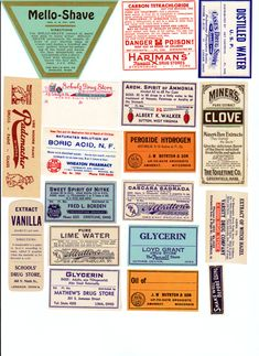 Vintage Apothecary labels pharmacy collage by TheDigitalArtifact