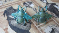 Father's Day Gift Bee Cuff Links Verdigris & by enchantedsquirrel, $18.00