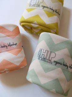 mint and coral chevron baby blankets...love bedding-for-baby-and-more