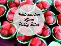 watermelon  soaked in liquor and lime juice! amazing for an adult party