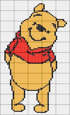 Borduurpatroon: Disney Allerlei *Cross Stitch Pattern Disney Various ~Winnie de Poeh *Winnie the Pooh~