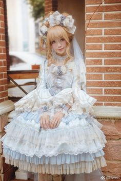 Elpress L -The Promise of Love- Gorgeous Lolita OP Dress,Lolita Dresses, Lolita Cosplay, Cosplay Girls, Gothic Dress, Lolita Dress, Gothic Lolita, Gothic Girls, Harajuku Fashion, Kawaii Fashion, Lolita Fashion