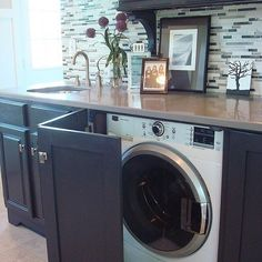 How do you feel about hiding your washer and dryer with cabinets?