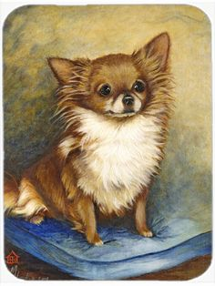 Chihuahua Long Hair Brown Mouse Pad - Hot Pad or Trivet MH1036MP #artwork #artworks