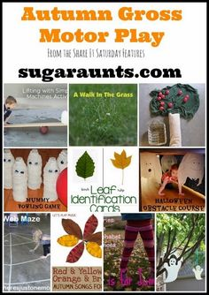 Play away the Halloween sugar rush with active Autumn-themed gross motor play activities.  From the Share It Saturday features. By Sugar Aunts  - repinned by @PediaStaff – Please Visit ht.ly/63sNtfor all our pediatric therapy pins