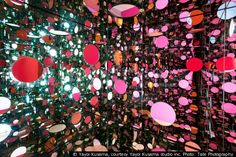 Infinity Mirrored Room by Yayoi Kusama  I was in here- it's crazy!
