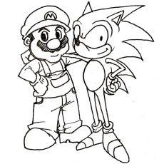 Coloriage Mario Sonic A Imprimer Gratuit Coloriage Sonic