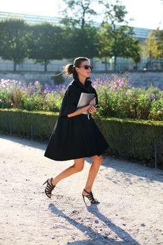all black look in Paris #streetstyle