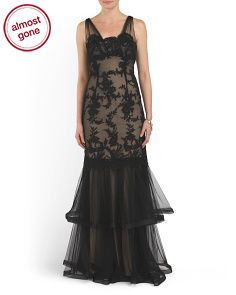 image of Overlay Lace Gown