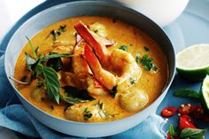 Juicy prawns pop with flavour in this rich curry.