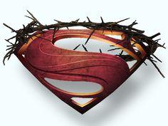 Man of Steel: Jesus vs Superman Christian Life, Christian Quotes, Man Of Steel, Steel Dc, Jesus Pictures, Jesus Loves You, Walk By Faith, God Jesus, Jesus Art