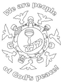 first communion worksheets for children | peace-coloring-pages-03