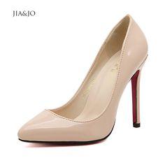 b24da6400 Barato Saltos tamanho grande tamanho 43 44 45 46 fundo vermelho sapatos de  salto alto fechado