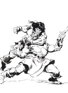 Diversions of the Groovy Kind: Black and White Wednesday: Can't Get Enough John Buscema Conan