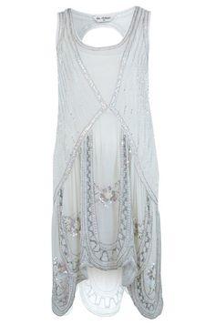 10 Gatsby-Style Flapper Cocktail Dresses: Miss Selfridge Embellished Flapper Dress. #Stylish365