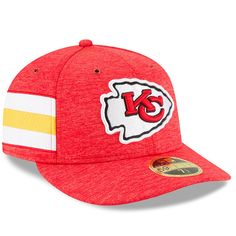 Men s New Era Red Kansas City Chiefs 2018 NFL Sideline Home Official Low  Profile 59FIFTY Fitted Hat eb99ba9e8