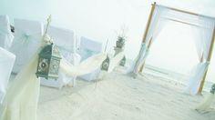 simple but elegant, aqua bling lanterns on white Sheppard hooks