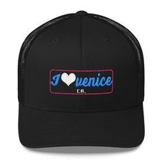 I Heart Venice Traditional Trucker Cap