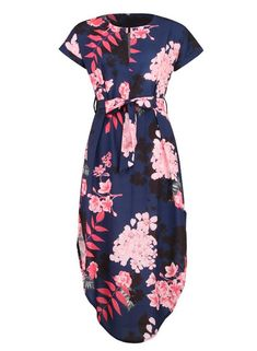 f8a07ee38774 Wintialy Women Casual Short Sleeve V Neck Printed Maxi Dress with Belt     Check out the image by visiting the link.