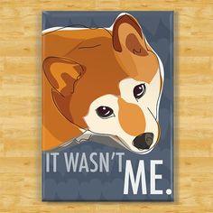 Shiba Inu Magnet - It Wasn't Me - Shiba Inu Gifts Dog Fridge Refrigerator Magnets on Etsy, $5.99