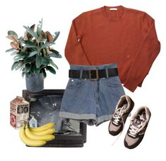 """""""breakfast to high school hell"""" by loser99 ❤ liked on Polyvore featuring New Balance and LIST"""