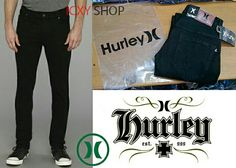 celana jeans hurley black 28-34.add my pin.2b888249