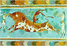 Fresco of Bull Jumping - from the Isle of Crete