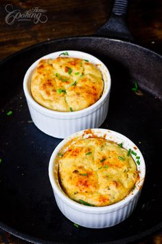 Potato Souffle - delicious easy recipe for one of the best side dishes ever - potato.. cheese, chives and eggs- wonderful combination