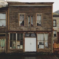 Abandoned store fronts in St. Elmo, CO.   I want to put a bookstore in this building!!  It just looks rich with history!