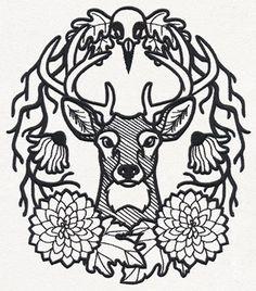 Woodland Crest design (UT14937) from UrbanThreads.com